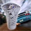 Car Cobra Snake Blue LED Flash Light Manual Gear Shift Knob Vehicle Modifications Interior Decoration Universal Shifter Auto Acces