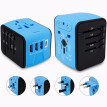 Travel Adapter,Universal Travel Adapter,All-in-one International USB Travel Adapter with High Speed 2.4A 4-port USB Charger