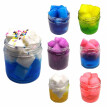 100ML Slime Decompression Toy Crystal Mud Fruit Coconut Jelly Mud Soft Non-Sticky Mixing Cloud Stress Relief Kids DIY Sludge Clay