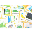 19  Pieces-Nature Flash Cards-English word learning card&pocket size flash card for Preschool children-English Vocabulary Cards