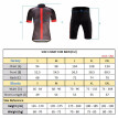 Romacci Lixada Men's Cycling Clothes Set Quick Dry Short Sleeve Bicycle Jersey Shirt Tops 3D Cushion Padded Riding Shorts Tights P