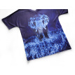 Blue 3D elephant printing T-shirt loose round neck men's short-sleeved large size clothing