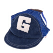 LetsKeep dog adjustable baseball cap for summer pet dog hat with ear holes Sun protection Pet Caps S/M/L Brown/Blue