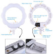SL107 Ring LED Video Light Fill Light with Makeup Mirror 384pcs SMD LEDs 2700 Lumens 3000K6000K Color Temperature Ra95 for Live
