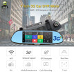 Junsun 7 inch 3G Car GPS Navigation Android WIFI DVR Camera video recorder Rearview Mirror Vehicle gps navigator