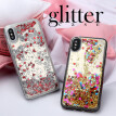 Akabeila Cover for Samsung Galaxy J3 2017 EU Case Soft Mirror Dynamic Glitter Phone Protector Cover Shell J330 J330F
