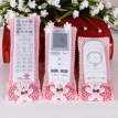 Bowknot Design Dustproof Lace Floral Print TV Air Condition Remote Control Case Organizer Holder Cover Protector Storage Bag