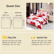 Love Heart Angle Pattern 4Pcs 3D Printed Bedding Set Bedclothes Home Textiles Quilt Cover Bed Sheet 2 Pillowcases