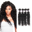 Ishow 7A Brazilian  Deep Wave Virgin Hair 4 Bundles Cheap 100% Human Hair 8''-28'' Brazilian Virgin Hair Free Shipping