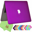 "UESWILL Smooth Soft-Touch Matte Frosted Hard Shell Case Cover for MacBook Air 11"" (Model: A1370/A1465)- Deep Purple"