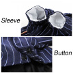 Pet Dog Stripe Suit Jacket Wedding Dress Pet Tuxedo Suit clothes puppy costume for small or medium dog Gentleman