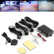 4 Parking Sensors Car Backup Reverse Radar Rearview Mirror Colored LED Display