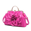 Brand new women leather bag fashion leisure wild shoulder bag rose flowers pattern messenger bag ladies tote bags