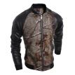 Zogaa Autumn Men's Jacket 3D Printing PU Leather Casual