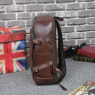 Men's retro Leather music school Backpackl Travel outdoor Hiking backpack Bag