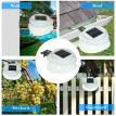 Solar Power Fence Lamp UFO Shape 9 LED Gutter Lighting Solar Panel Light Wall Super Bright Light Outdoor Waterproof Eaves Courtyar