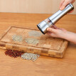 Stainless Steel Electric Salt & Pepper Mill Grinder Seasoning Pot Spice Salt Sugar Mill Kitchen Cooking Tools Coarse/ Fine Model