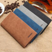 Men's Wallet Long Slim Retro Frosted Youth Soft Wallet Men's Personality Fashion Student Bill