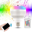 LED Bluetooth RGBW Bulb Speaker Lights 12W Music Playing Dimmable Wireless Led Lamp with 24 Key Remote