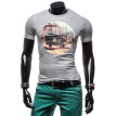 Zogaa New Men's T-shirt Short Sleeve Printing Slim Fashion