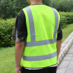Interesting zipper reflective vest reflective vest fluorescent yellow green car traffic safety warning vest sanitation construction duty riding safety clothing