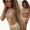 Sexy Women Lace Dress See Through Bodycon Dress Backless Short Mini Dress Vestidos