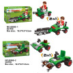 Agricultural Science Farmer's Car DIY Mini 12 Boxes Building Blocks Plastic Compatible With Lego Georgic Toys For Kids Brick Truck