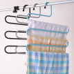 Stainless Steel Trousers Hanger Multifunction Pants Closet Belt Holder Rack S-type