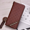Korean men's wallet knitted leather wallet, long wallet, multifunctional handbag.