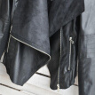 Fashion Vintage Women Jacket PU Leather Patchwork Zipper Pocket Slim Short Motorcycle Coat Outerwear