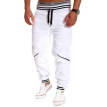 Zogaa New Men's Pants Splice Sports Casual Contrast Color
