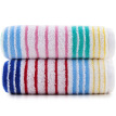 Sanli cotton rainbow stripes large towel wash towel gift box double installed