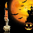 Halloween Ghost Skull Lamp Hand Stand LED Candle Lights Party Decoration