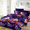 Christmas Santa Bedding Set Polyester 3D Printed Duvet Cover + 2pcs Pillowcases + Bed Sheet Set Christmas Bedroom Decorations--Kin