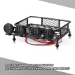 Roof Rack Luggage Carrier & Light Bar for 1/10 Monster Truck RC Car Crawler