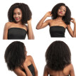 150% Density 360 Lace Frontal Wig Brazilian Human Hair Wigs Afro Kinky Curly Dolago
