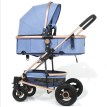 Wisesonle baby stroller is available for sitting and lying on high view double shock absorbers portable folding baby stroller khak