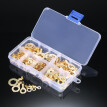 Assorted 150pcs Brass Ring Cable Lugs Ring Eyes Copper Crimp Cable Connector Wire Terminals M3 M4 M5 M6 M8 M10 Kit