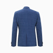 INTERIGHT suit men's self-cultivation business casual single western jacket small checkered dark blue L code (175/92A)