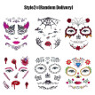6pcs/set Horror Face Eye Temporary Tattoo Stickers for Haunted House Halloween Party Masquerade Prank Makeup Decorations Props