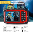 "16MP 2.7"" LCD Waterproof Digital Video Camera Mini Camcorder DV Underwater Max 10M Diving 8X Digital Zooming Face Detection"