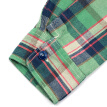 BIIFREE Casual Button-Down Shirts Men's Clothing 100% Cotton American casual style Long Sleeve  Retro Green plaid shirt