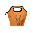 Lunch Tote Bag  Orange Elephant Travel Picnic Insulated  Lunch Handbags Portable Zipper Lunch Bag Box
