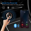 Car Bluetooth Fm Transmitter, Wireless in-Car FM Radio Adapter Car Kit with Hands Free Calling, QC3.0 Dual USB Port Car Charger
