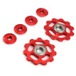 2 x Bike 11T Aluminum Sealed Bearing Jockey Wheel Rear Derailleur Pulleys 11 teeth bicycle rear derailleur accessory