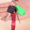 Mini Portable Bottle Opener Aluminum Key Ring Chain Keychain Beer Free Shipping【Random color】