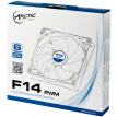 ARCTIC 14cm fan (4-pin PWM temperature control / CPU chassis fan / 4pin speed / F14PWMrev.2)