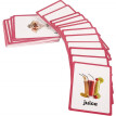 33pc-Food Flash Cards-English word learning card&pocket size flash card for Preschool children-English Vocabulary Cards