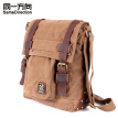 Tsd Men's Canvas Leather Messenger Bag Vintage Canvas Shoulder bag Field Bag leisure canvas bag khaki