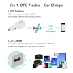 Real Time GPS Tracker GSM GPRS Tracking Device Car Charger with USB Port Powering for iOS Android Mobile Phone Camera Navigator Mu